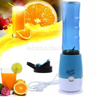 Harga Ultimate Blender Portable Shake n Take versi 3 / Botol / Tabung / Alat pembuat Jus BP-01 - Blue