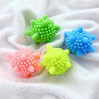 Harga 4 Pcs Soften Clean Washing Laundry Dryer Balls Anti Winding Washer Wash Balls Color Random - intl