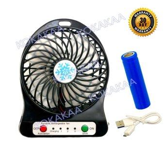 Harga Aximo Kipas Angin Rechargeable Mini Baterry Charge & Usb Cable Bundle - Hitam