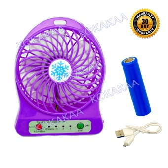 Happy Kipas Angin Meja Rechargeable Portable Mini Fan Bisa Untuk PowerBank Ungu 1Pcs. Source ·