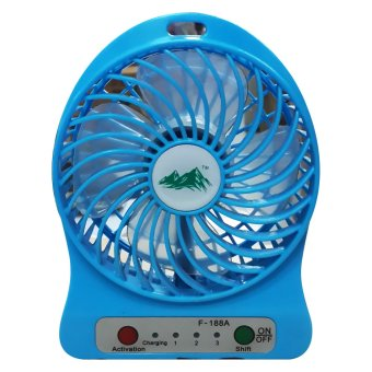 Harga USB Mini Fan / Kipas Angin Rechargeable F-188 - Strong Wind