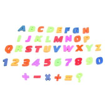Kulkas magnet huruf dan angka 52 buah Ditetapkan (Aneka Warna)