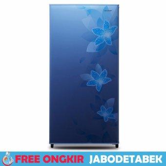 Lemari Es 1 Pintu Sharp SJ-N166F-FB Biru 128 L - Free ngkir Jabodetabek