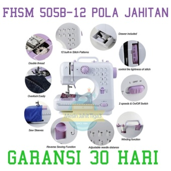 Mesin Jahit 12 POLA, Mesin Jahit Portable, Tipe FHSM 505 BERGARANSI