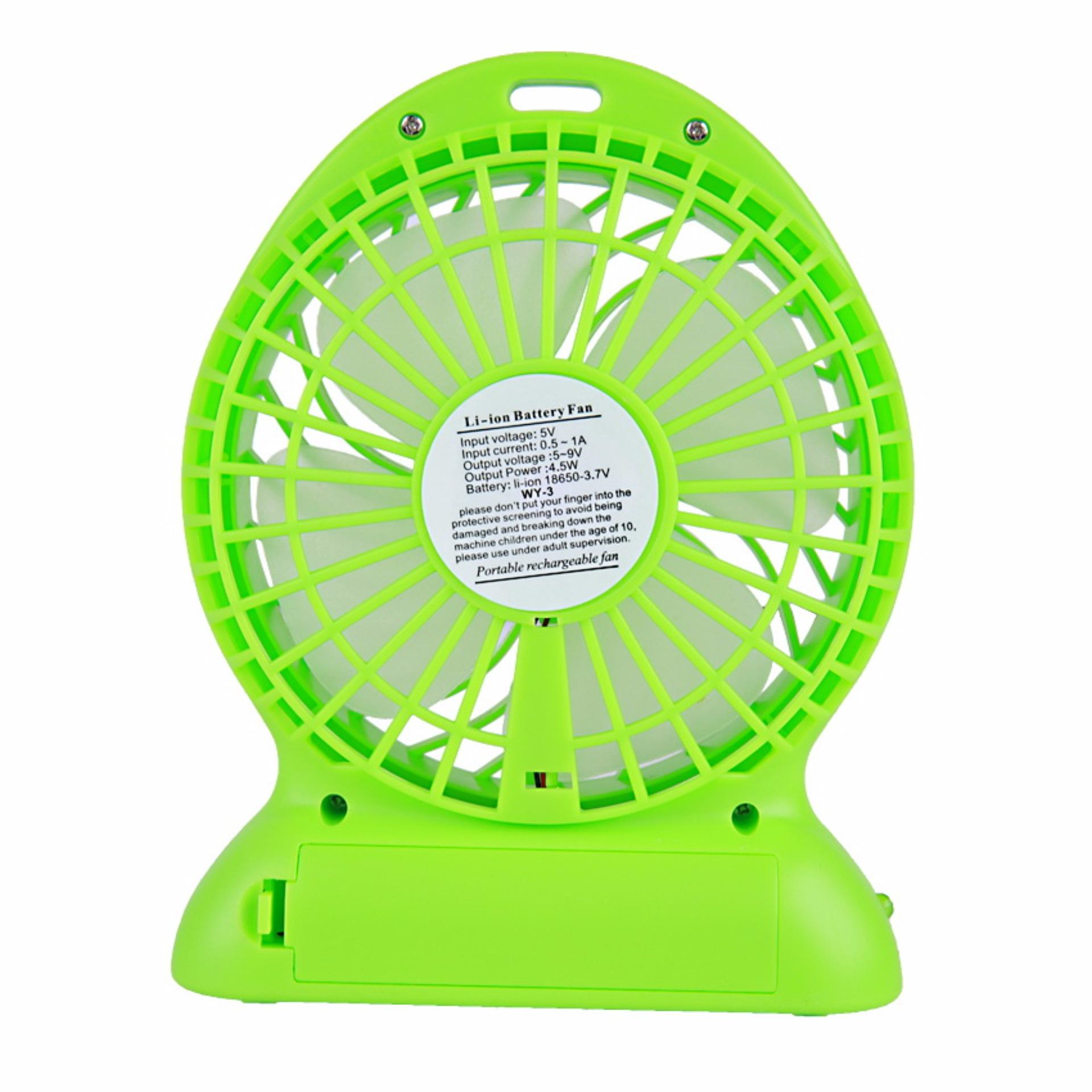 Kipas Mini Angin Kecil Usb Fan Portable Warna Warni 13cm