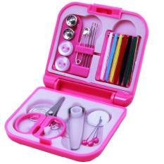Mini Portable Perlengkapan Jahit - Pink