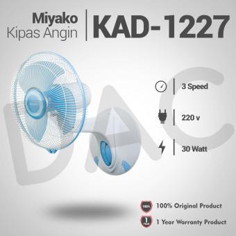 Miyako KAD-1227B Kipas Angin Meja - Biru