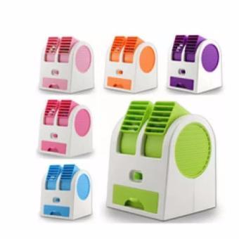 Belanja Terbaik Neo Ac Duduk Double Mini Fan Portable Blower Kipas Usb - ungu -hijau