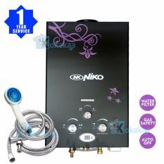 Niko Gas Water HeaterInstan / Pemanas Air Gas NK 6L - Hitam