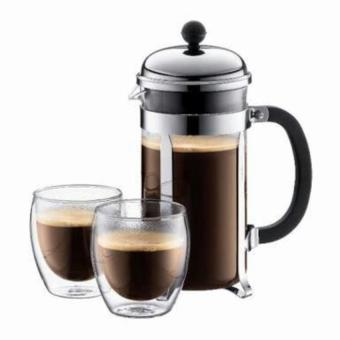 PALING DICARI Fiorenza French Press Coffee Maker 350 ml for 3 Cups TERLARIS