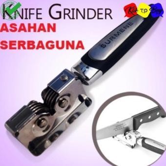 Pengasah Pisau / Gunting Stainless Steel - Knife Grinder Asahan Surmene Sharpener - Silver + Ikat