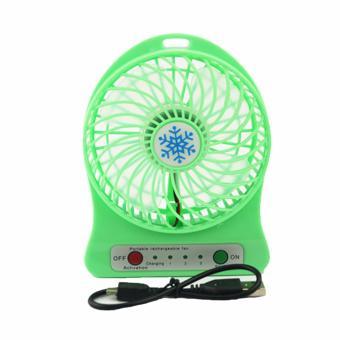 Portable Mini Fan Rechargeable: Kipas Angin Pendingin Recharge Cas Kecil (HIJAU)