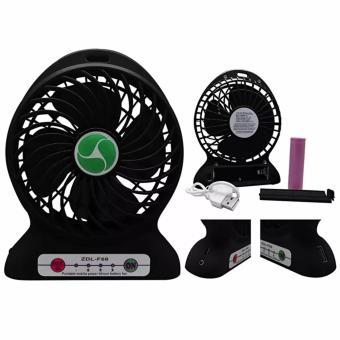 Portable Mini Fan Rechargeable: Kipas Angin Pendingin Recharge Cas Kecil (Hitam)