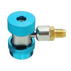 R134A Adaptor Coupler Cepat 90 DEG HIGH LOW A/C AC Manifold Freon-Intl