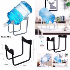 Rak Dudukan Penyangga Galon Air minum / Gallon Water Bottle Dispenser Stand Galon Stainless Steel Rack - Abu
