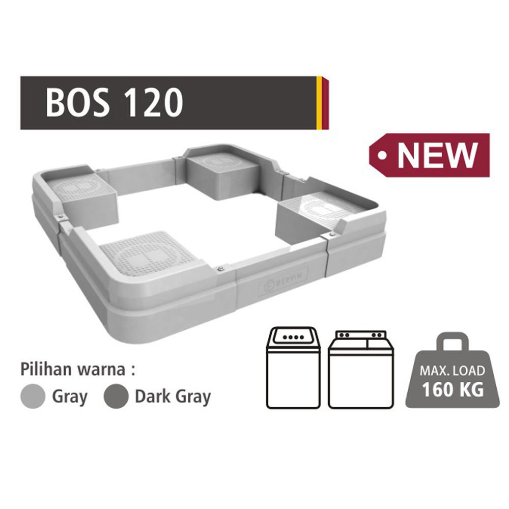 Stand Kaki Mesin Cuci Top load Bervin Multifunction - BOS 120