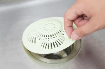 yugos Disposable Hair Strainer Shower Drain Hair Stopper Trap,White- intl