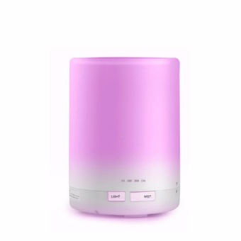 Harga Zell Aroma Essential Oil Diffuser Ultrasonic Air Humidifier 7 Color Changing 300ml - Putih
