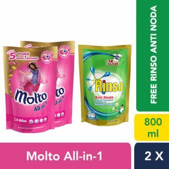 Rinso Molto Ultra Detergent Cair 1000 mL. Source · 2X Molto Pelembut dan Pewangi Pakaian
