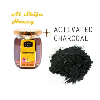 Activated Charcoal (Arang Aktif) 150 Gr + Natural Madu Arab Al Shifa