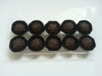 Chocolate Hazelnut Dark Cokelat Truffle isi 10 - Khas Chocolate