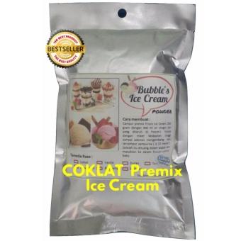 COKLAT Premix Ice Cream 250gr FRIZCO BUBBLE'S Bulky Instant Powder,Bahan Bubuk Es Krim Frizco