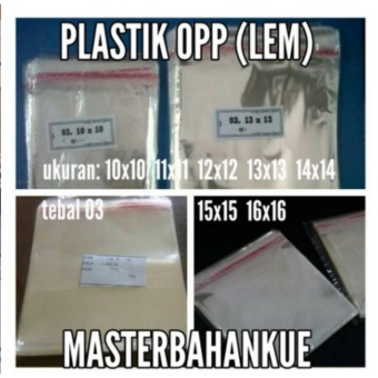 harga HBT Plastik OPP (sdh ada lem seal) 14 X 14 Lazada.co.id