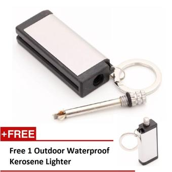 Harga Outdoor Waterproof Kerosene Lighter Korek Api - Silver