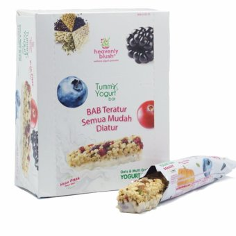 Harga Heavenly Blush Tummy Yogurt Bar Berries 12 Pcs