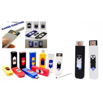 thumbs Korek Elektrik - Korek Api Lighter USB Anti Angin - Random Color .