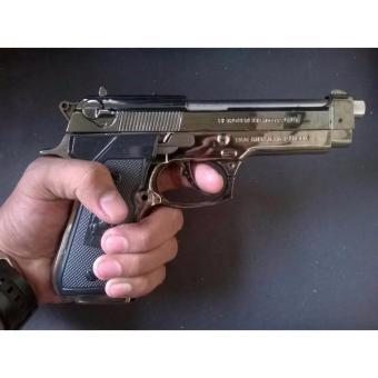 Korek Gas Pistol Beretta Silver Besar, Korek Api Bareta, Mancia murah