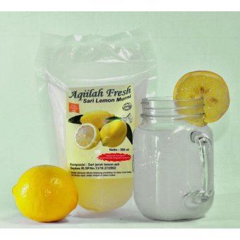 MINUMAN HERBAL SERI JERUK LEMON AQILLAH FRESH ASLI 500ml