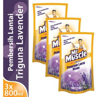 [TRIPLE PACK] Mr. Muscle Axi Triguna Lavender Pouch 800mL