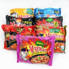 Paket Samyang 7 Rasa Stew Cool Cheese Curry Spicy Nuclear Mala Isi 7
