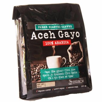Sentra Kopi - Aceh Gayo Arabica Ground Coffee / Bubuk Arabika 500 Gram