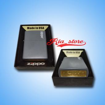 harga Zippo Classic Seri A14 Grey Matte U.S.A Lazada.co.id