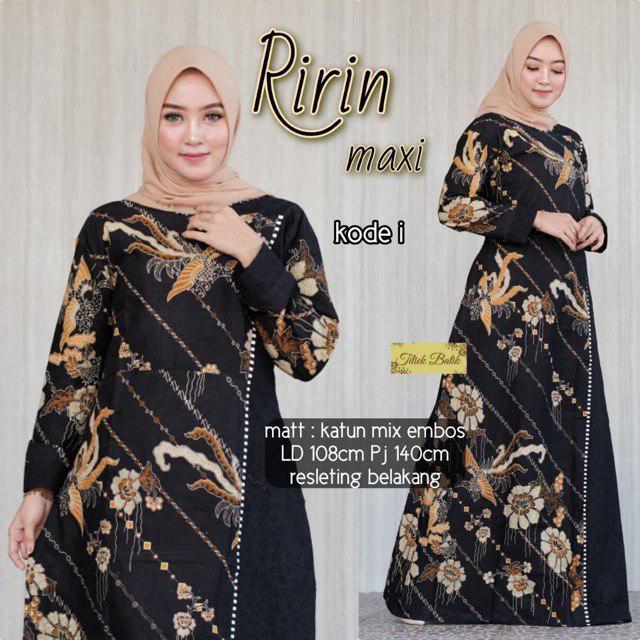 Baju Gamis Batik Wanita Ririn Sofimodel Baju Gamis Terbaru 2019 Gamis Murah Gamis Ori Busana Muslim Gamis Batik Gamis Modern Grosir Gamis