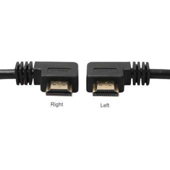 ... 0.3m HDMI Female to Right /Left 90 Degree Male Cable 1.4V for PS4TV ...