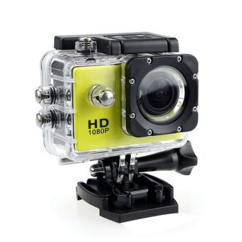 harga 1080P HD DVR Mobil Sport Helm DV Kamera Perekam Video Sepeda Kuning YBC Lazada.co.id