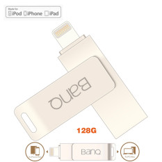 128GB 128GB 128GB BanQ OTG USB Flash Drives Pen Drive Expansion For iPhone 5/5c/5s/6/6plus/6s/6S plus/SE/7/7plus /All iPad /iPod/MAC/IOS Apple(Silver)
