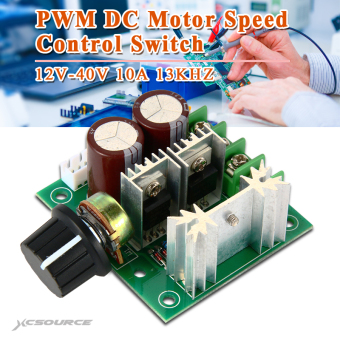 12v-40v 10a 13khz pulse width modulation pwm dc motor speed controlswitch te365