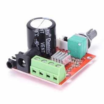 12V Mini Hi-Fi PAM8610 Audio Stereo Amplifier Board 2X10W DualChannel D Class Red 40mm*40mm*19mm - intl