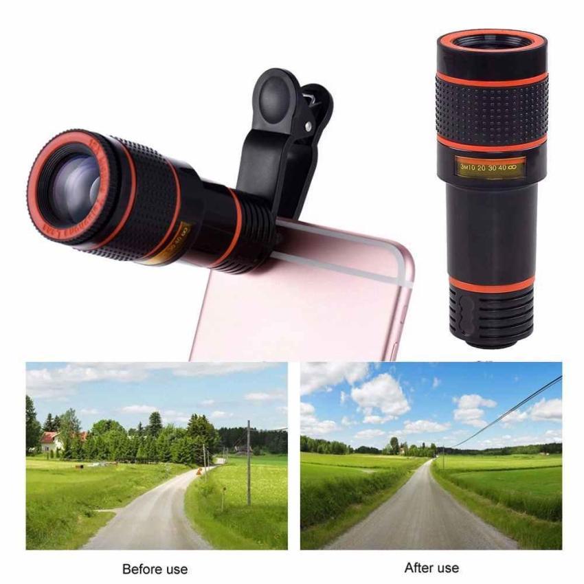 ... 12x Zoom Optical Camera Telephoto Telescope Lens Holder For Mobile Cell Phone - intl ...