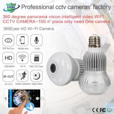 1.3MP 360 Degree Kamera WIFI Wireless IP Camera Wi-Fi Bulb Lampu Fisheye Panorama Surveillance Security Camera-Intl
