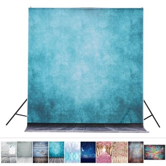 1.5 * 2.1m/5 * 6.9ft Photography Backdrop Background Digital Printed Blue Classic Wall Wooden Floor Pattern for Kid Children Baby Newborn Portrait Studio Photography - intl