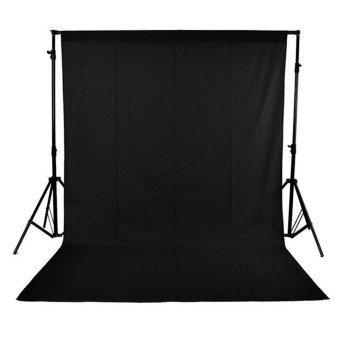 1.6 x 3M / 5 x 10FT Photography Studio Non-woven Backdrop / Background Screen Black Outdoorfree - intl