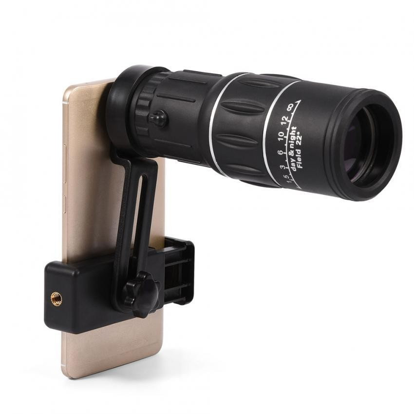 SHANYU 16X Hiking HD Kamera Lensa Monocular Telescope Zoom Tahan Air Bukti Kabut dengan Dudukan Telepon