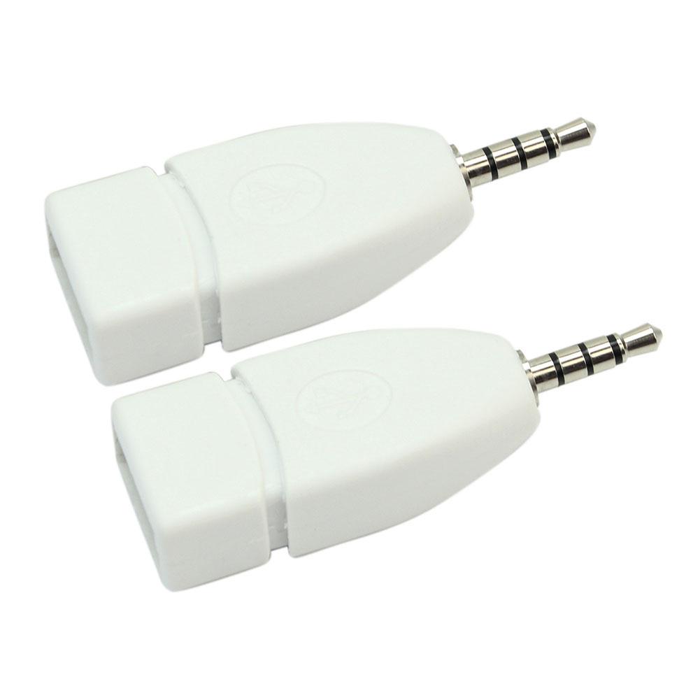 2 buah saku 3.5 mm audio jack male aux steker USB 2.0 adaptorkonverter .
