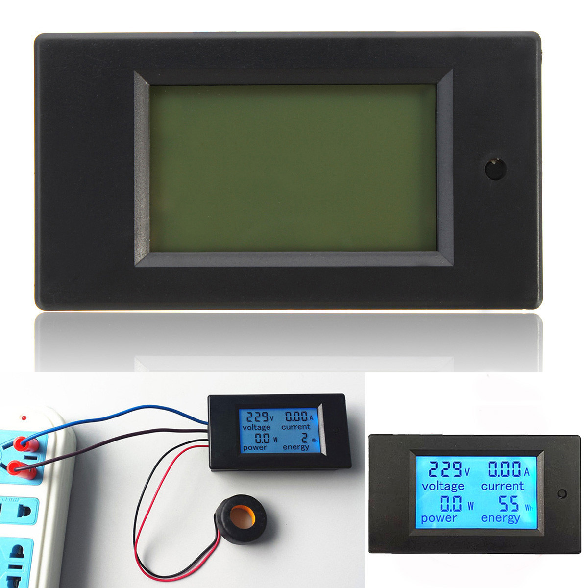 2 Pcs 100A AC Daya LED Digital Panel Meter Power Monitor Energi Pengukur Tegangan Volt Pengukur
