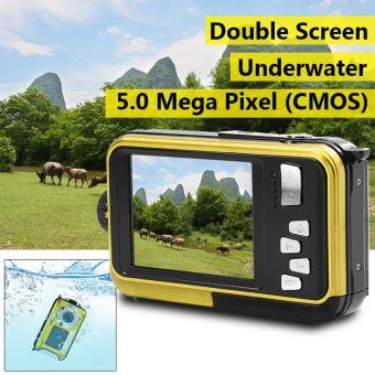 24MP Double Screen Underwater Digital Video Camera HD 1080P 3m Waterproof LF760